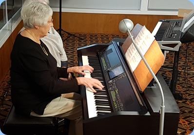 Claudette Wheeler playing the Clavinova CVP-509.