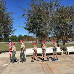 2018 Oct Cobra Patrol Flag Ceremony Quilts for Veterans