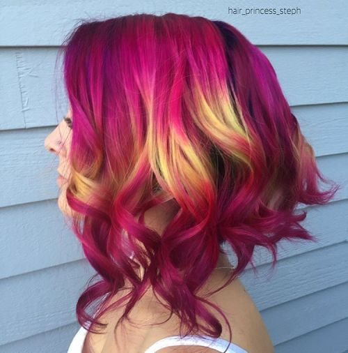 The Best Unboring Styles with Magenta Hair Color By Professional 2017 6