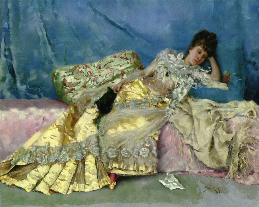 Julius LeBlanc Stewart - Lady on a Pink Divan