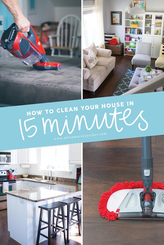 How to clean your house in 15 minutes - Quick Cleaning Tips