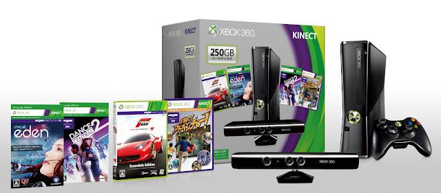 Xbox 360 250GB + Kinect Premium Set