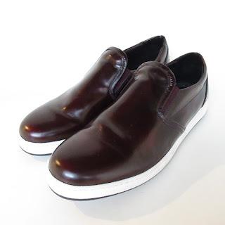 Bugatchi Ox Blood Leather Slip Ons