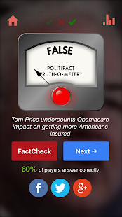 PolitiTruth: A PolitiFact Game - náhled
