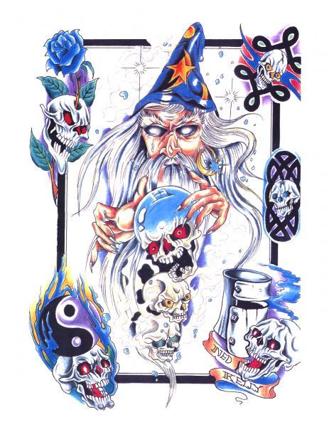 Magical Tattoo Design 8, Fantasy Tattoo Designs