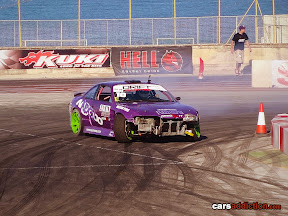 Drift car Nissan Silvia with Corvette V8 engine