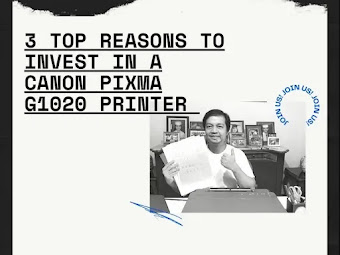3 Top Reasons To Invest In A Canon Pixma G1020 Printer For Your Home [Review]