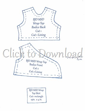 msd bjd wrap top pattern