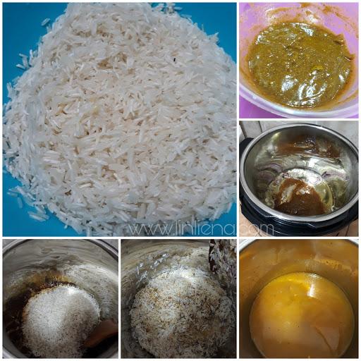 Nasi Briyani IMAN Menggunakan Pressure Cooker