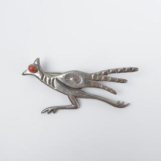 Sterling Silver Christin Wolf Bird Brooch