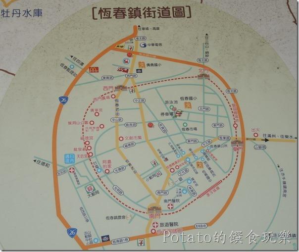 恆春街道圖