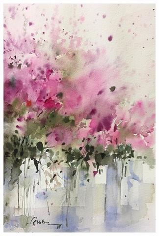 Acuarelas Luis Camara Watercolors Flores Pinturas Florales