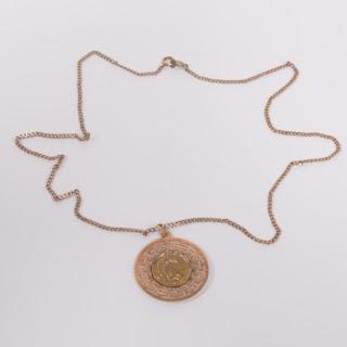 14K Hoplite Pendant Necklace
