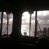 21 August 2012 - a view from the ALB cockpit. Photo: RNLI Poole/Dave Riley