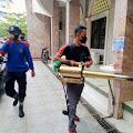 Tim DPKP Lakukan Penyemprotan Disinfektan di Sejumlah Masjid