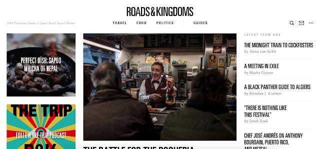 Blog de viagem inspirado no livro The Book of Roads & Kingdoms