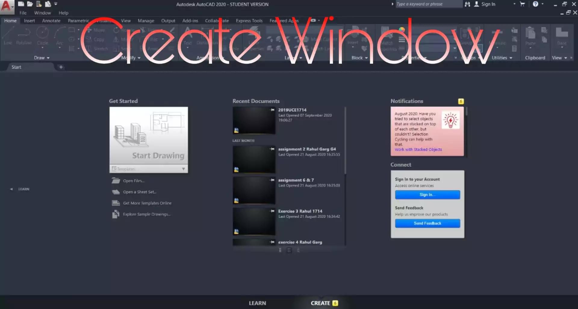Create AutoCAD