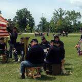 5th MI Regimental Band on the field in Lapeer MI