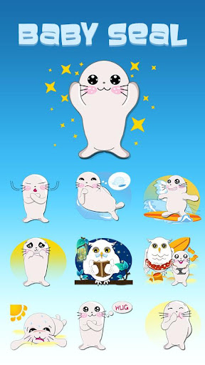 玩免費個人化APP|下載GO Keyboard Baby Seal Sticker app不用錢|硬是要APP