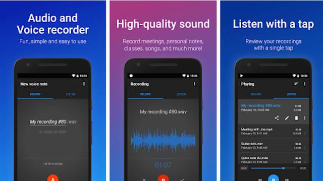 تطبيق Easy Voice Recorder