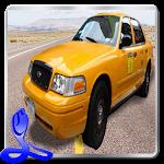 Car Driving Cab Parking 3D Icon