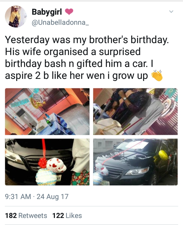 Pretty Nigerian Wife Throws Surprise Birthday Party For