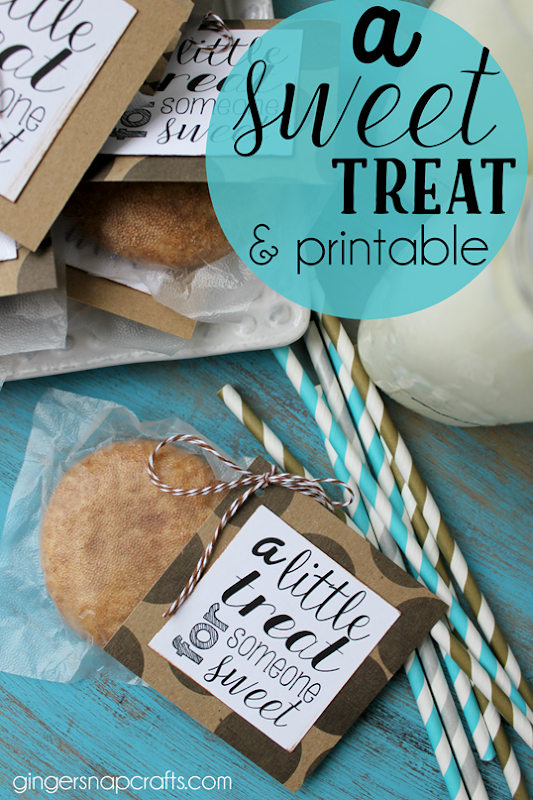 a sweet treat idea & free printable at   GingerSnapCrafts.com #pressnsealhacks #pmedia #ad