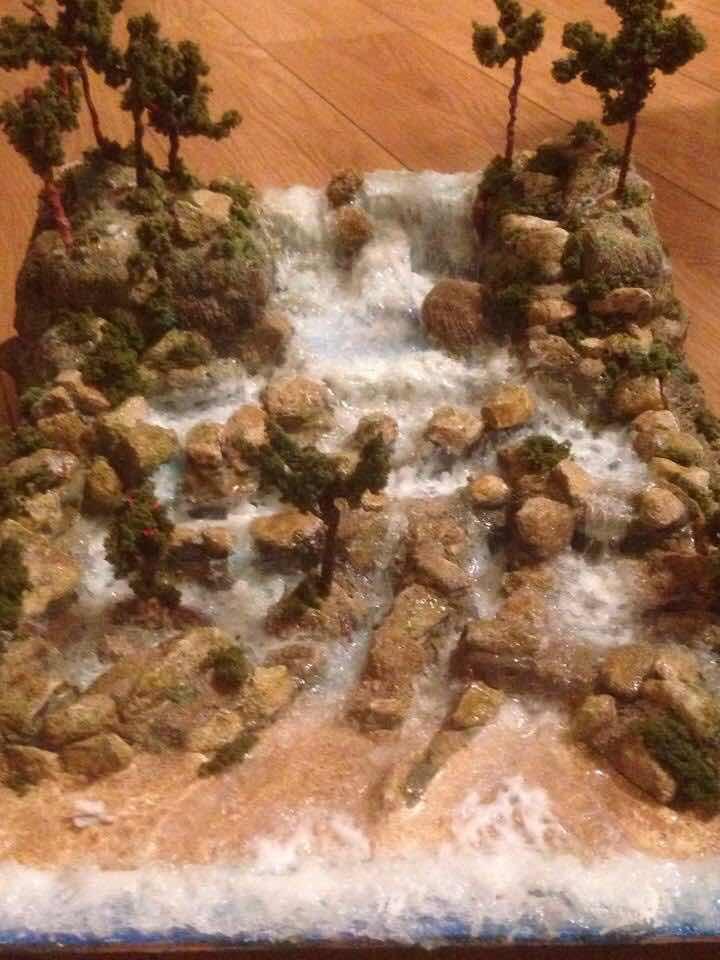 Assemblage art Jamaica waterfall