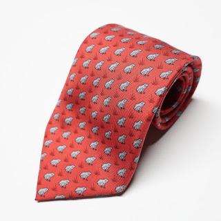 Hermès Red Frog Tie