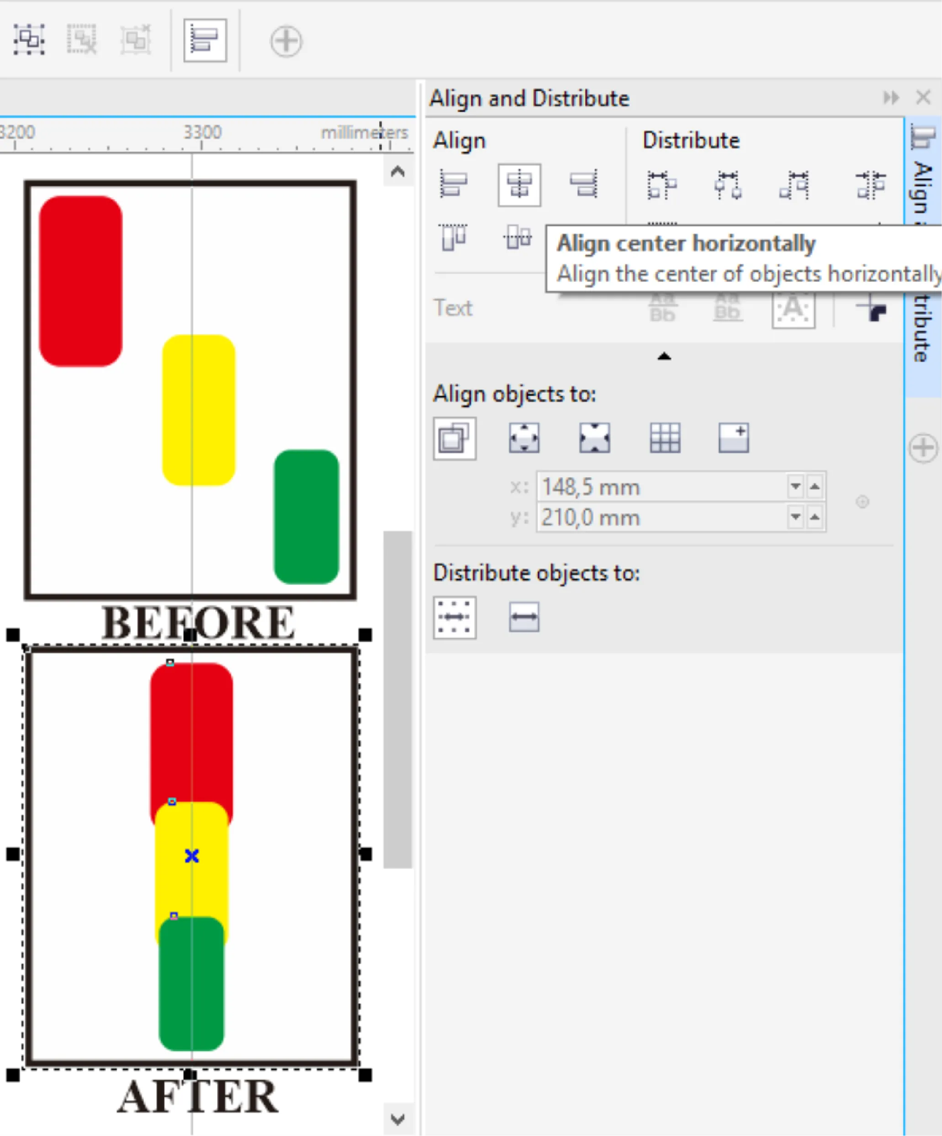 Cara Menggunakan Align dan Distribute Meratankan Objek Di CorelDaw X7