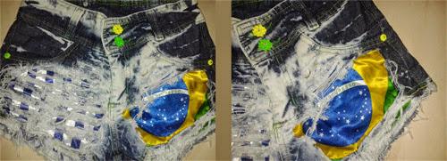 Ideia para customizar short para Copa do Mundo Brasil