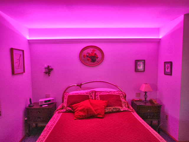 Bedroom led light strips