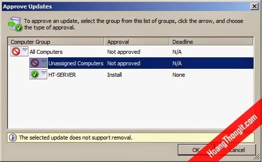 Cài đặt và cấu hình Windows Server Update Services WSUS