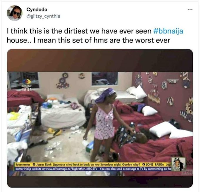 This set of housemates are the dirtiest ever seen in BBNaija, Fans react.