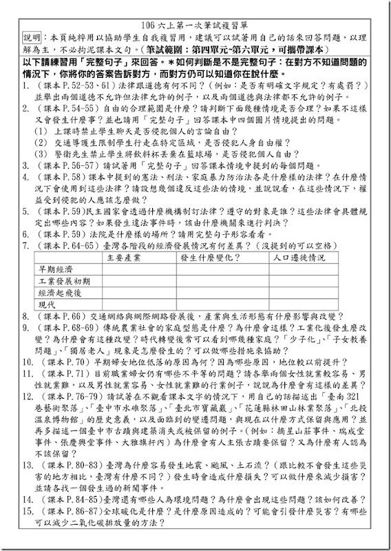 106六上學期社會第二次筆試複習問題練習_01