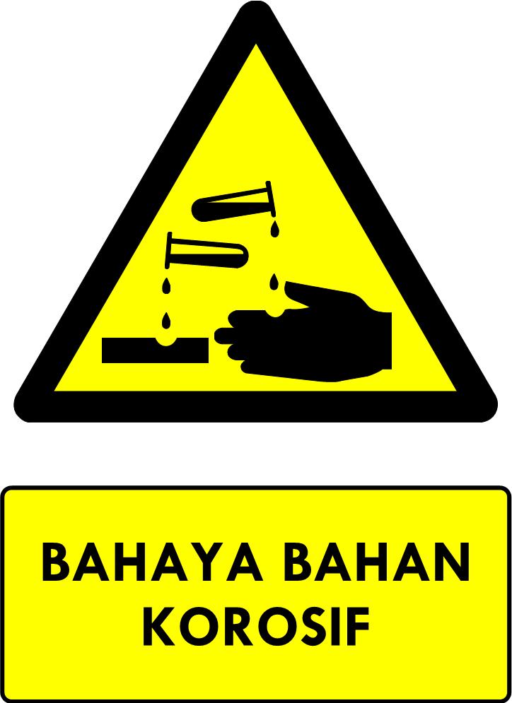 Rambu Bahaya Bahan Korosif