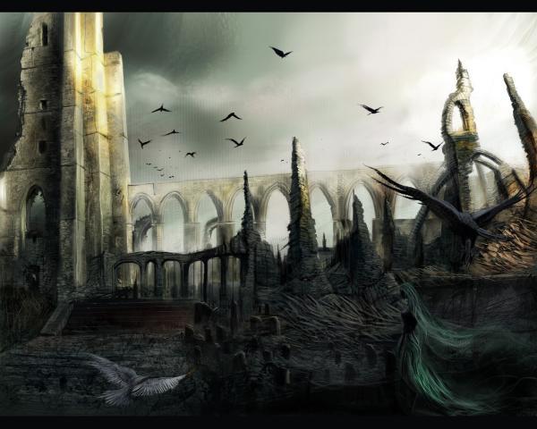 Ravens Over The Castle, Magical Landscapes 1