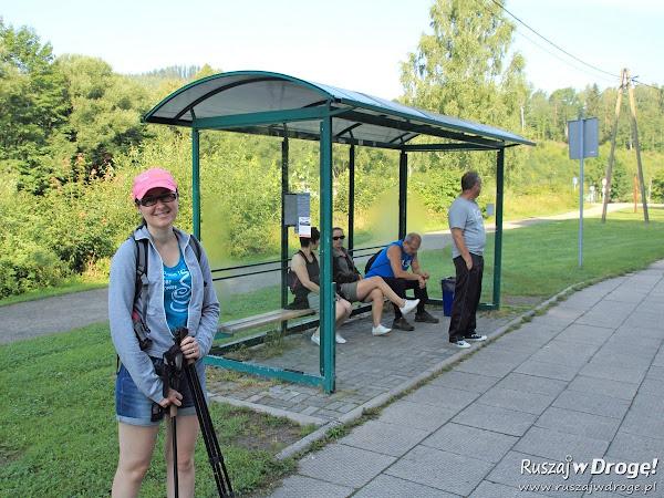 Na szlaku w Wiśle - czekamy na autobus PKS