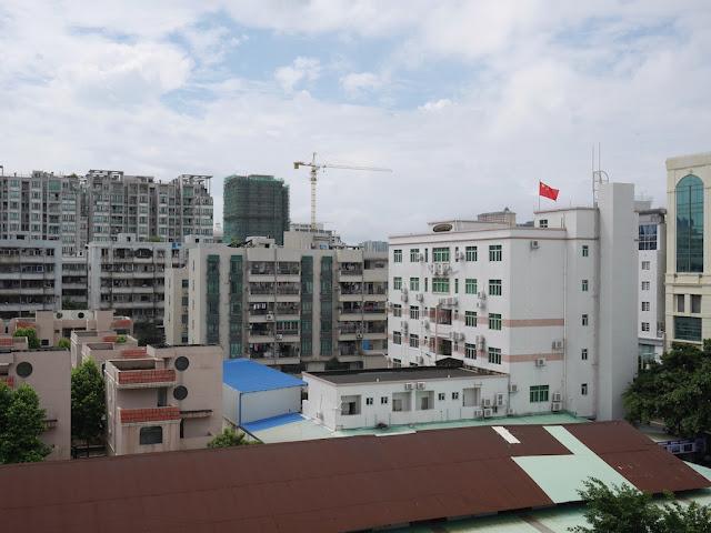 view from a window in Zhongshan, China