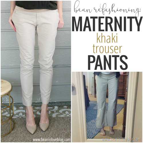 khaki trouser refashion