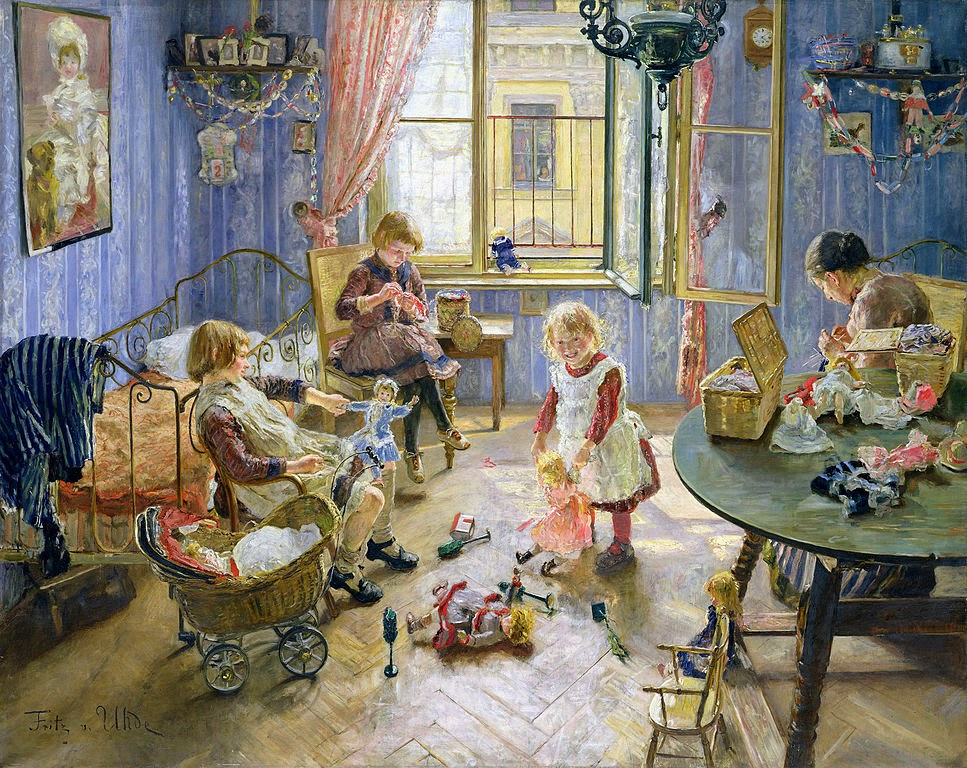 Fritz von Uhde - The children's room (The Nursery)