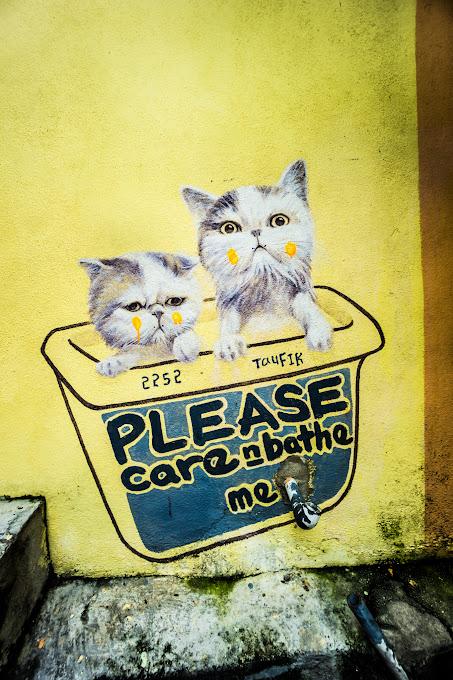 ペナン ジョージタウン ストリートアート Please Care & Bathe Me2