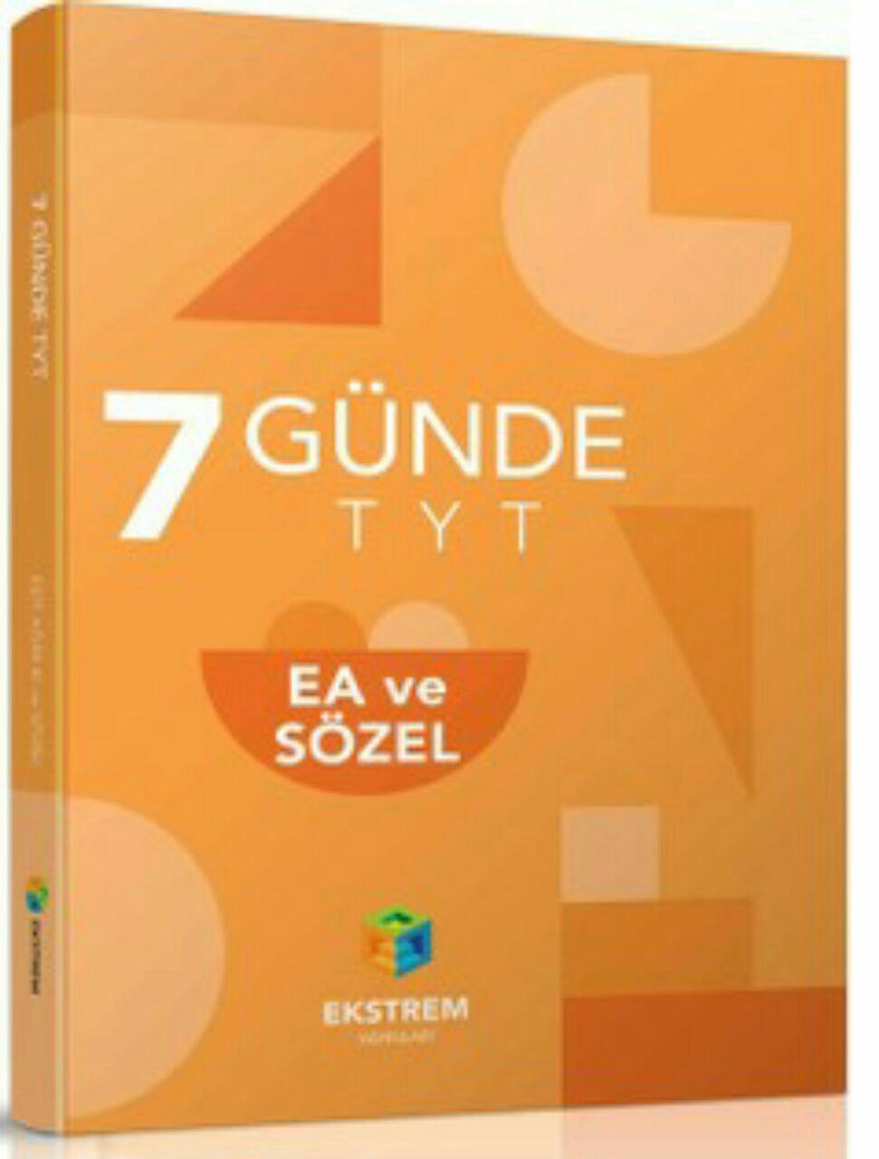 Ekstrem Yayınları 7 Günde TYT Eşit Ağırlık ve Sözel (2019-2020)