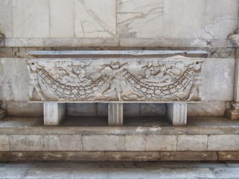Sarcófago en el Camposanto Monumental de Pisa