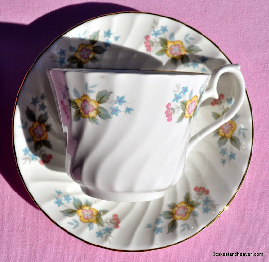 Swirl Design Gaiety Pattern Teacup and Saucer
