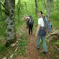 uspon na Oštri Medvjeđak kod Plitvičkih jezera