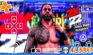 تحميل لعبة WWE 2K22 psp لمحاكي PPSSPP من ميديا فاير