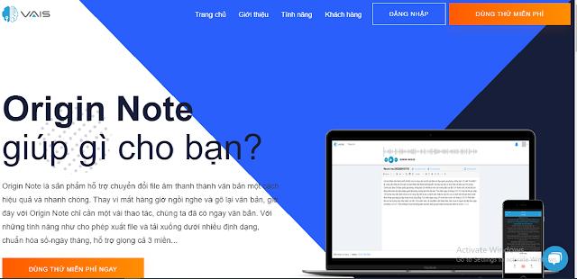 Phần mềm hỗ trợ chuyển từ giọng nói tiếng Việt thành văn bản chính xác 94% (Origin Note)