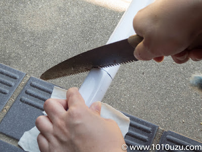 マキタのストレートパイプを短く切断