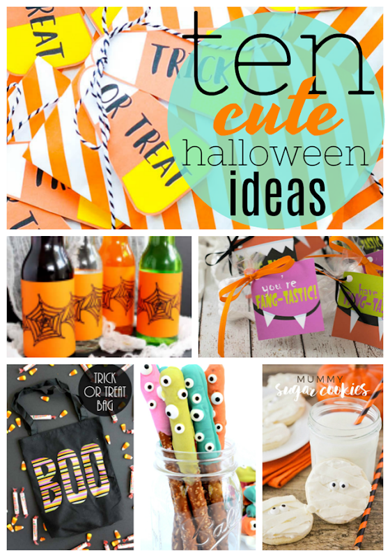 10 Cute Halloween Ideas at GingerSnapCrafts.com #halloween #trickortreat